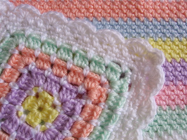 Crochet Patterns For Baby Blanket Edges : CROCHET BABY BLANKET EDGING ? Crochet For Beginners