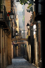 the light of the morning in Barcelona