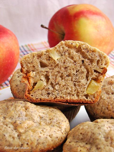 маковые маффины с яблоком 2