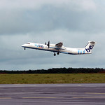 dash 8 flybe  en test touch and go