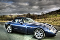 tvr tuscan speed 6(0.0), race car(1.0), automobile(1.0), tvr(1.0), vehicle(1.0), performance car(1.0), automotive design(1.0), land vehicle(1.0), tvr(1.0), convertible(1.0), supercar(1.0), sports car(1.0),