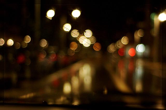 Luces desde el coche.
