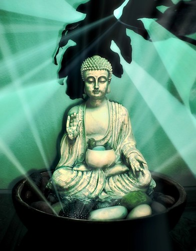 Luminous Green Healing Buddha by Wonderlane