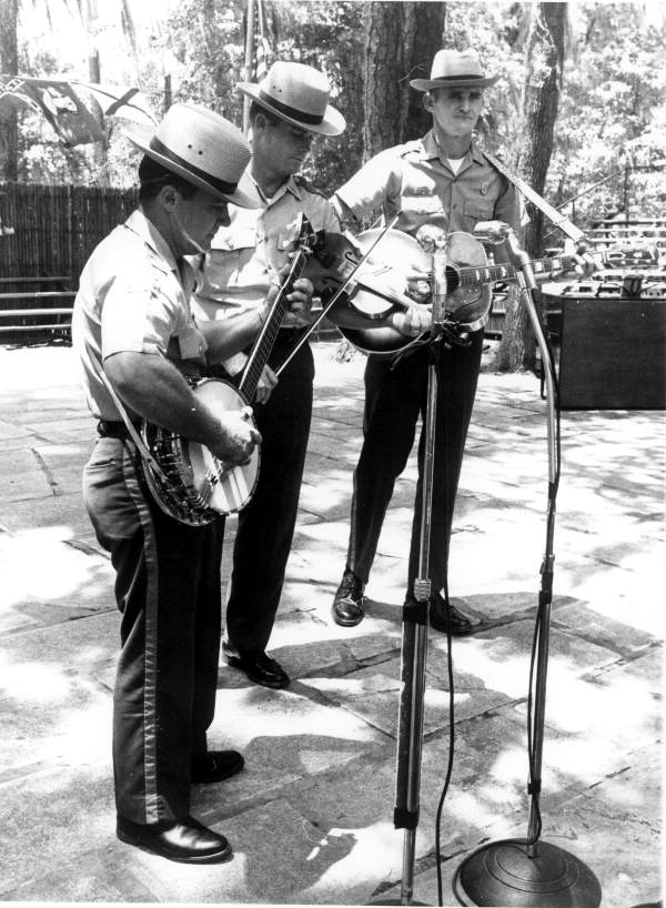 Dale Crider, right, and the Florida Wildlife Boys performing at the Florida Folk Festival: White Springs, Florida