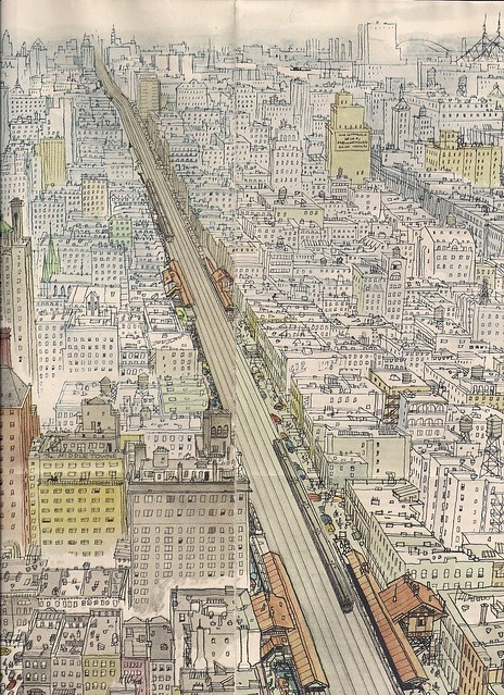 The El - NYC, NY - by Peter Spier (04-15-55 Colliers Magazine)0001