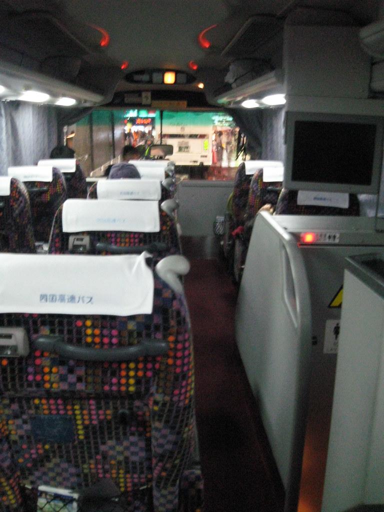 Inside the (k)night bus Tokyo<-->Takamatsu