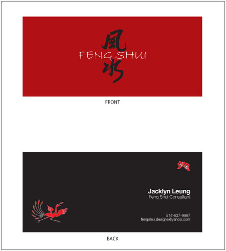 Quotfeng shuiquot business card front back flickr photo for Feng shui business cards