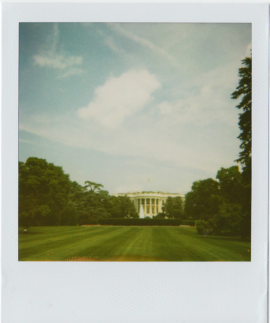 Polaroid of The White House