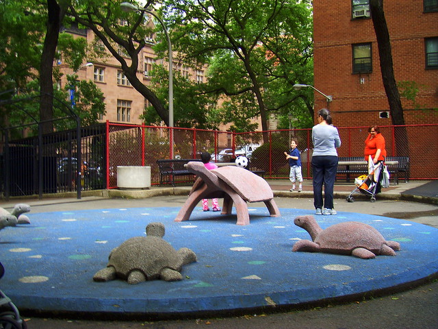 2009 June NYC - St Gregory's Park Playground