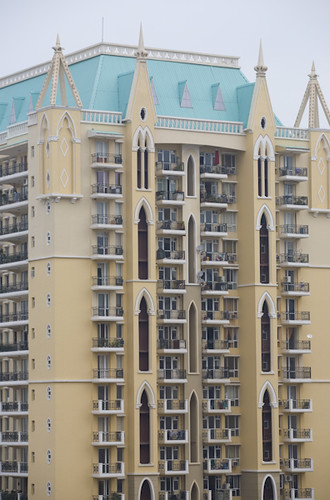 High Rise Apartments in Gurgaon, Haryana, India.