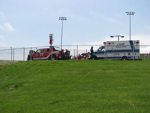 ambulance autoracing motorsports newton irl indycar indyracingleague iowaspeedway 2009iowacornindy250