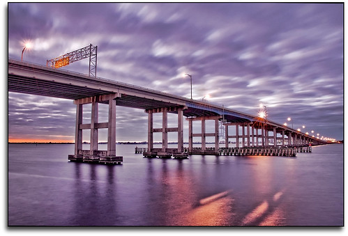 longexposure bridge sky water clouds reflections river lights florida flor hdr leecounty fortmyers caloosahatcheeriver postsunset d90 nikkor18200mmvr downtownfortmyers mywinners nikond90 caloosahatcheebridge