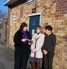 Therese Evans, Kairen Goves and Angela Clear are campaigning to save the public toilets in Wickham  See www.saveourloos.com for details