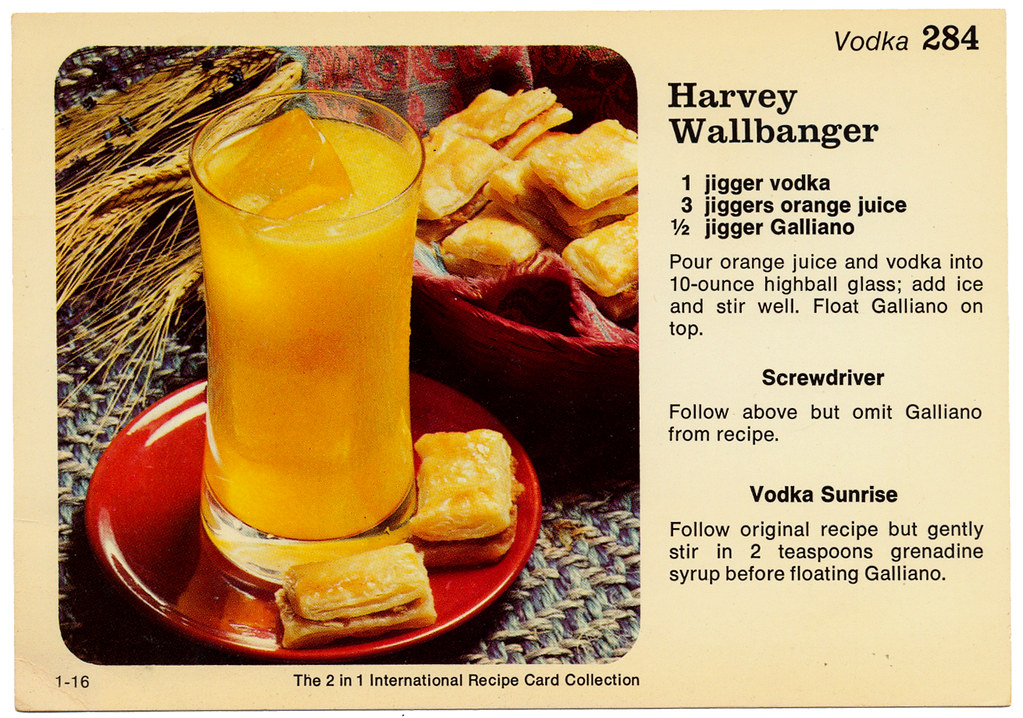 Cocktail - Harvey Wallbanger HM0046 - a photo on Flickriver