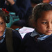 Two young girls at Shreeshitalacom Lower Secondary School. Kaski, Nepal.