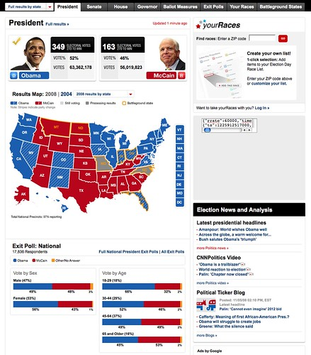 Obama's victory screen capture from firefox | Yushido | Flickr