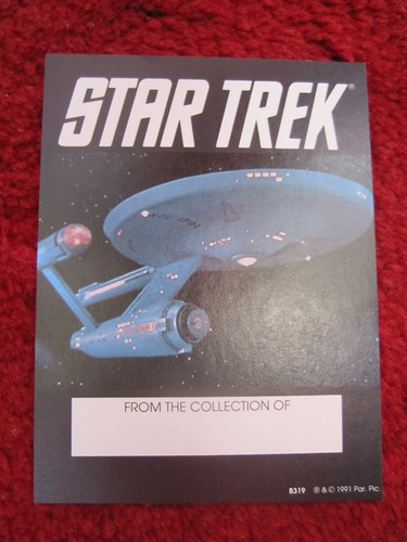 star trek book plate