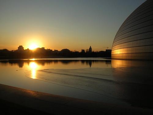 china sunset skyline asia beijing peoplesrepublicofchina dongchengdistrict earthasia