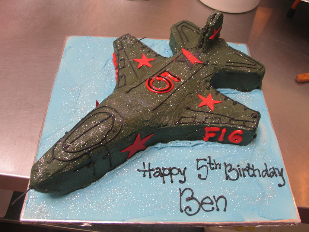 Fighter Jet F16 Birthday Cake A Photo On Flickriver