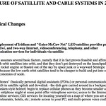 THE FUTURE OF SATELLITE AND CABLE SYSTEMS IN 2005