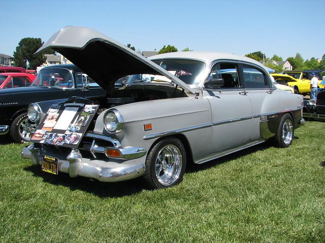 1954 chevrolet bel air 4 door sedan custom 39 dxk 374 39 1 for 1954 chevy belair 4 door