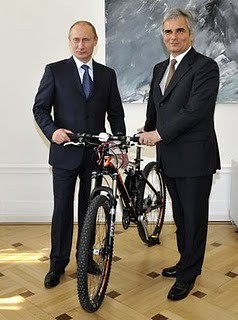 Prime Minister, Vladmir Putin, Russia with Austrian Federal Chancellor Werner Faymann