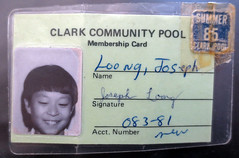 My pool pass from 1985
