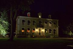 Chateau de Challanges par la nuit