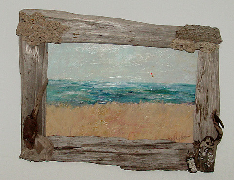 driftwood frame for original painting - Driftwood Picture Frame