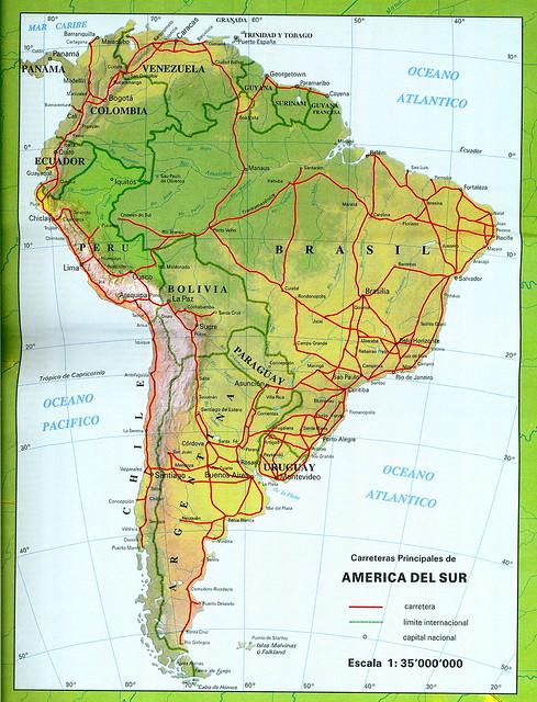 Mapa de Am rica del Sur map of South America Explore the Flickr Phot