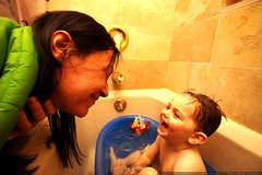 kidding around in the baby bath    MG 2932