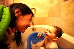 kidding around in the baby bath    MG 2932