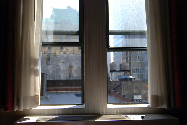 NYC Window View (a la Edward Hopper)