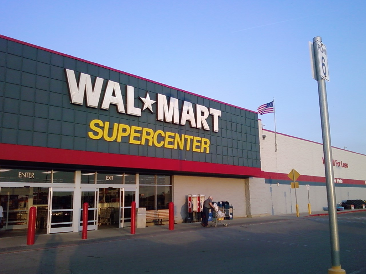 Wal Mart Knoxville Iowa Store Front A Photo On