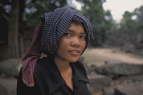 Portrait of Cambodian Woman-Angkor-Cambodia