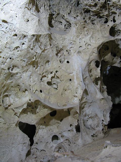 Cave with fossilised algae