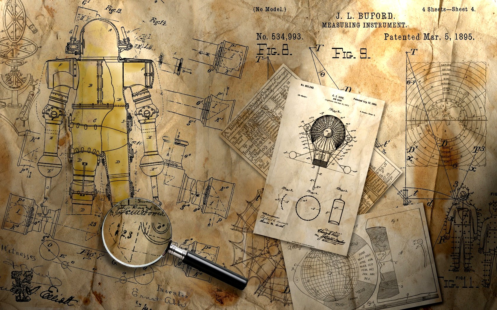 steampunk map wallpaper - photo #26
