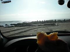 Dinner - quesadillas on the beach
