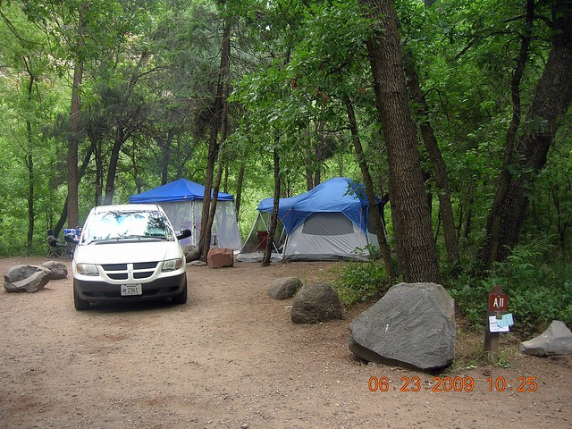 Cave springs campground sedona arizona 6 2009 campsite for Camping and fishing in arizona