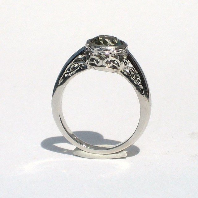 1920s style zultanite engagement ring flickr photo