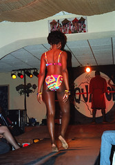 Equator Club Philadelphia Martin Luther King Tribute First Annual Cultural Extravaganza Fashion Show Presented by Essence ENE Productions African Beach Swimwear Bikini Model Jan 17 1993 148 Madianna from Liberia West Africa Sexy Bikini