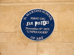 Photo of Sex Pistols blue plaque