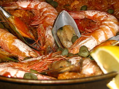 shrimp(1.0), seafood boil(1.0), dendrobranchiata(1.0), caridean shrimp(1.0), paella(1.0), fish(1.0), seafood(1.0), food(1.0), dish(1.0), cuisine(1.0),