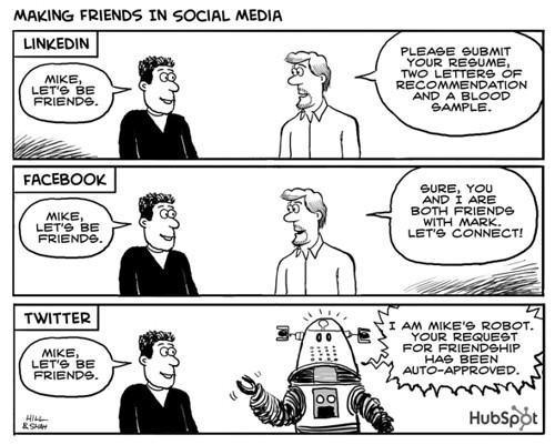 Making Friends - Marketing Cartoon
