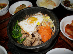 steamed rice(0.0), samgyeopsal(0.0), bibimbap(0.0), noodle(1.0), meal(1.0), lunch(1.0), banchan(1.0), food(1.0), dish(1.0), cuisine(1.0), nabemono(1.0),