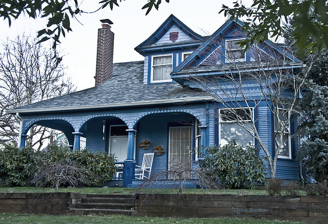 The very BLUE house