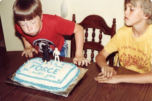 My 9th Birthday Star Wars Cake in 1983