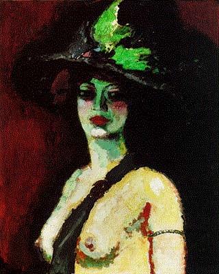 Dongen, Kees Van (1877-1968) - 1906 Woman With Large Hat