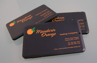 Mandarin Orange Card Disk USB Drives