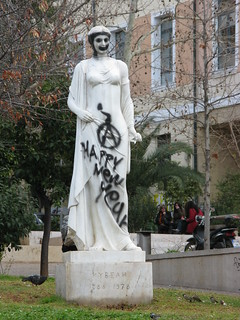 Obraz Kyveli. statue rally hellas athens greece 100views damage riots 50views anarchists ελλάδα αθήνα griots ελλαδα άγαλμα αναρχικοί κυβέλη ταραχέσ greekriots επεισόδια ζημιέσ σπασμένα dvdphotos11 address:city=athens address:country=greece
